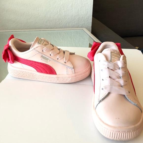 puma ribbon shoes pink off 54% - www